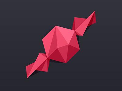 Taffy Logo taffy polygons flat monochrome pink