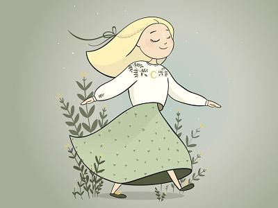 Moon's girl digital digital art vector vectorart illustrator bookdesign character design design characters bookillustration art digitalart 2d art procreate illustraion