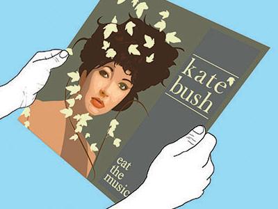 Kate kate bush lp music illustration