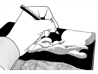 Sketch Book illustration package design
