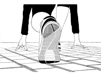 Runner illustration package design