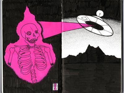 UFO'd ufo moleskine illustration sketch