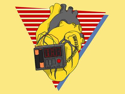 Heart Bomb bomb heart illustration