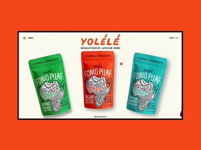 Yolélé website flat digital animation clean ui web design minimal ux design