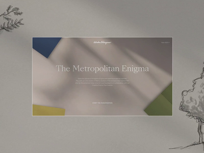 The Metropolitan Enigma - Salvatore Ferragamo illustraion game website digital animation clean ui web design minimal ux design