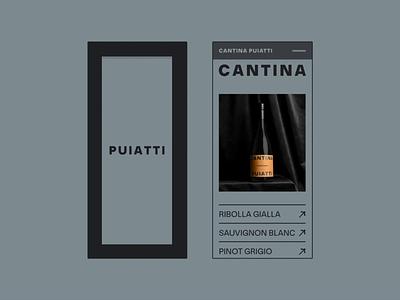 Cantina Puiatti animation clean ui web design minimal ux design
