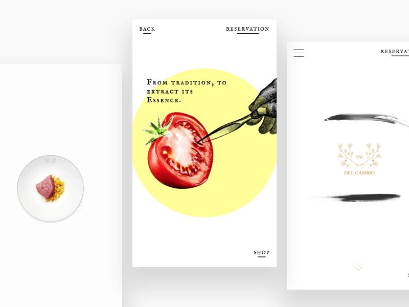 Del Cambio - Mobile web design ux ui minimal flat gif digital design dailyui animation clean white