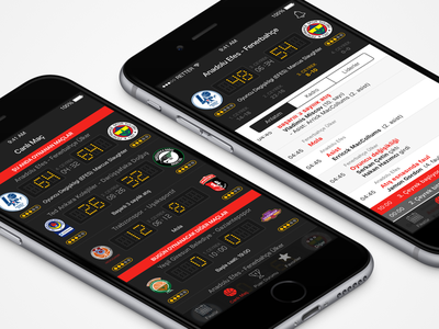 TBL Live Match Screens game basketball mobile app iphone android ios