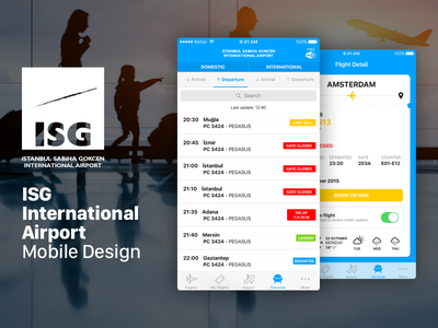 ISG Complete Design airport sabiha isg ticket plane flight mobile app iphone android ios