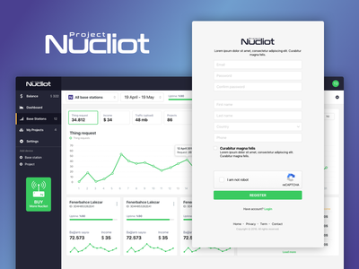 Project Nucliot login dashboard web admin