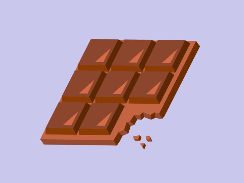 Chocolate sweets chocolate vector illustration