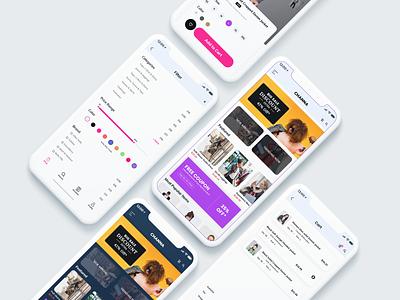 Channa - Online Shop Mobile App UX fashion shop react native flutter ios developer food recipe ux ui figma typography trend shop app mobile ios concept colorful bright application apple app design app