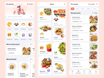 Foodwala - Food Delivery & Restaurant App hire me love restaurant app illustraion branding grocery app shopping app ecommerce ondemandapp delivery app food app trending app design mobile app design flutter ui ux app