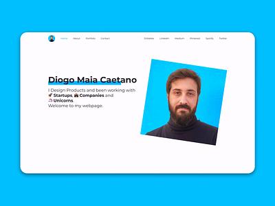 My new Website portfolio product design white website web design