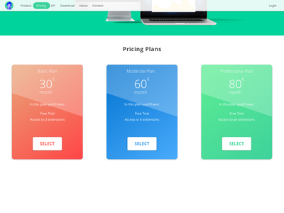 Pricing Page Challenge professional moderate basic select challenge page pricing desktop web green technology design