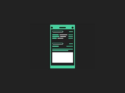Mobile App - Wireframe illustration product design ui ux design white black green wireframe app mobile
