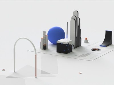 VC Swipe - 3D Art branding illustration website ux ui transition minimal designs animation 3d animation