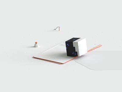 VC Swipe - 3D illustration ux ui transition minimal animation 3d animation