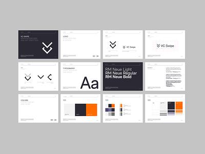 VC Swipe - Style Guide branding illustration designs logo ux ui transition minimal animation 3d animation