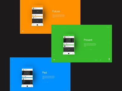 Swipsh - Future, Present & Past esa branding transition website minimal animation ux ui