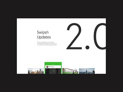 Swipsh 2.0 interface design mobile website transition minimal animation ux ui