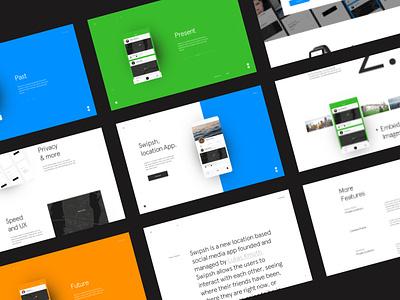Swipsh app animation branding design website ux ui