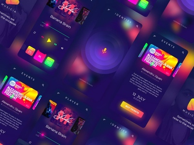 Music App branding ui music app app design illustrator ui ux adobe xd music