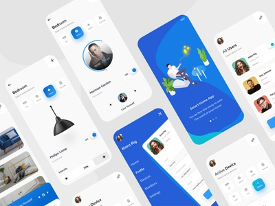 Smart Home UI vector illustration ui ux ui illustrator branding app design adobe xd