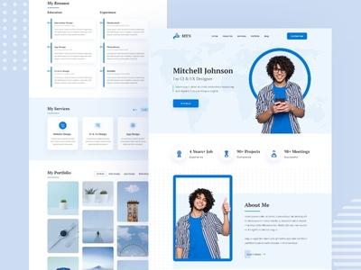 Personal Portfolio, CV & Resume Template delivery ui ux illustration adobe xd resume cv portfolio personal