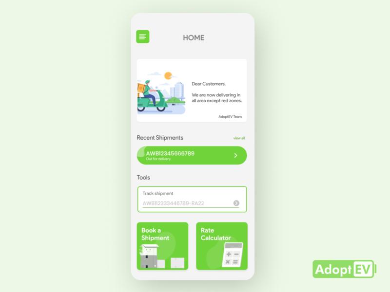 Delivery App UI Design shipment nonprofit ux design logodesign vehicle colour drawing gradient green green ui delivery app card ui branding ux icon flat design clean app