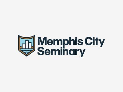 Memphis City Seminary Logo branding icon logo typography illustration design