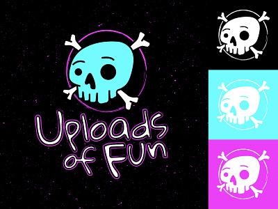 Uploads of Fun #1 texture typography skull illustration branding logo uploads of fun