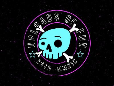 Uploads of Fun #2 texture typography skull logo branding badge design uploads of fun