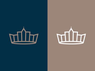 Seeking The City illustrator line concept crown city clean simple icon design xprocrastinationcontest
