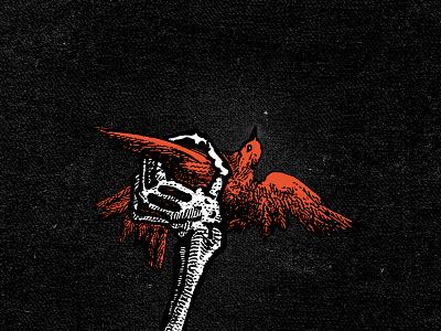 Freedom & Hope art clique twenty one pilots bird skeleton graphic design poster
