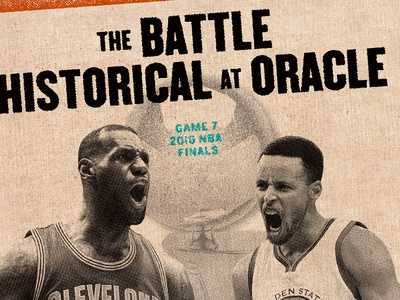The Battle Historical at Oracle poster badge halftones texture sports basketball cleveland finals nba cavs cavaliers