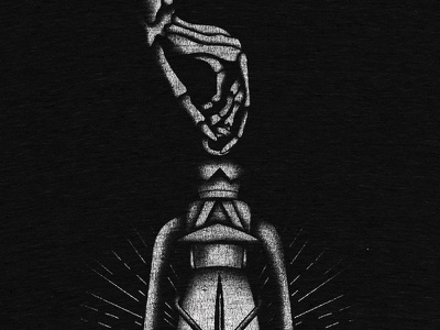 Kill Sin design apparel black and white tattoo rays illustration texture switchblade lantern skeleton