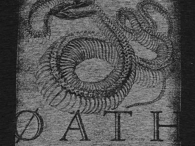 I am the Culprit band t-shirt photocopy grit texture bones snake apparel music underoath