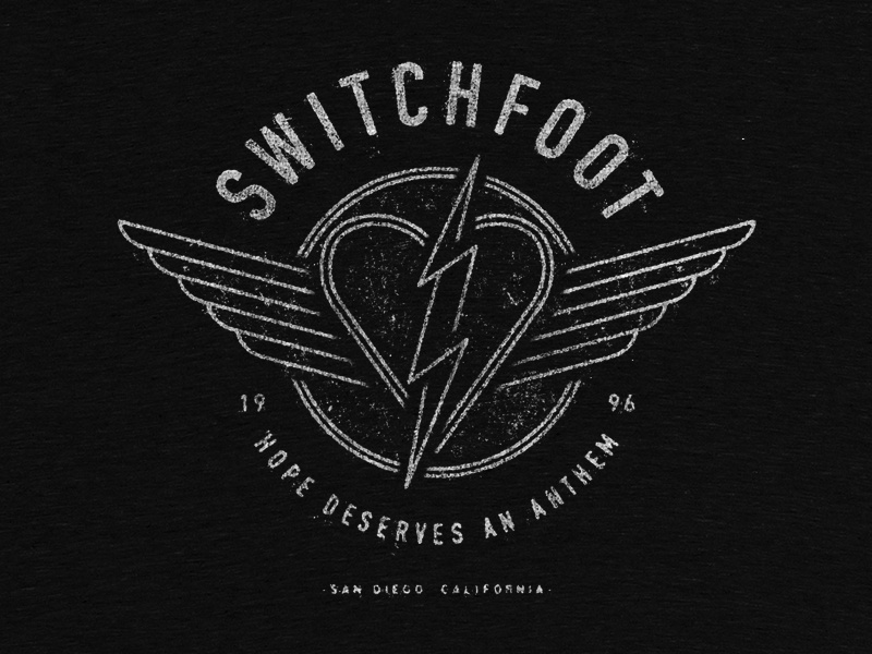 Electric Heart & Wings typography apparel art line lightning bolt heart california music band switchfoot