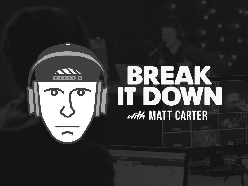 Break it Down, Oh Break it Down... bad christian emery matt carter type branding line logo icon podcast