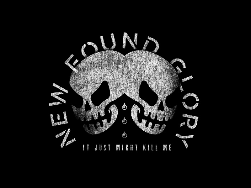 The Sound of Two Voices blood skulls illustration music typography texture design apparel merch band new found glory