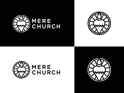 Mere Church Logo church branding church church design sacred heart line art illustration logo
