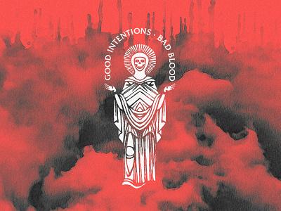 Good Intentions  ·  Bad Blood apparel merch typography vintage badge apple pencil ipadproart texture art illustration skull deadsaints dead saints