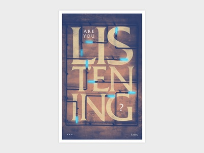 Emery Are You Listening Poster