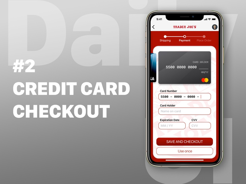 Daily UI #2: Credit Card Checkout Page credit card checkout mobile figma dailyui