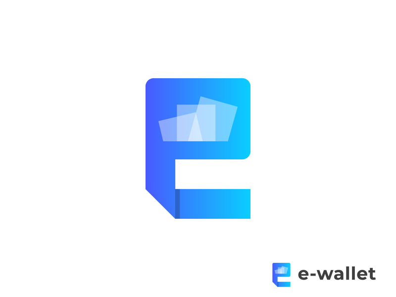 E-wallet Logo Design | E Letter Mark icon e abstract logo e modern logo wallet digital wallet logo money app digital payment logo trends 2020 logo logotype abstract logo mark logo design brand identity modern logo branding design typography