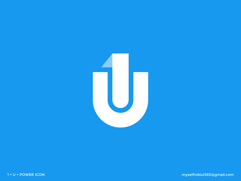 (1+U+Power) Logo Concept u1 logo concept simple logo design concept symbol icon alphabet creative logo typography brand identity branding logo logo design modern logo minimalist logo 1u logo power logo power icon