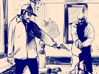 comic panel sketch