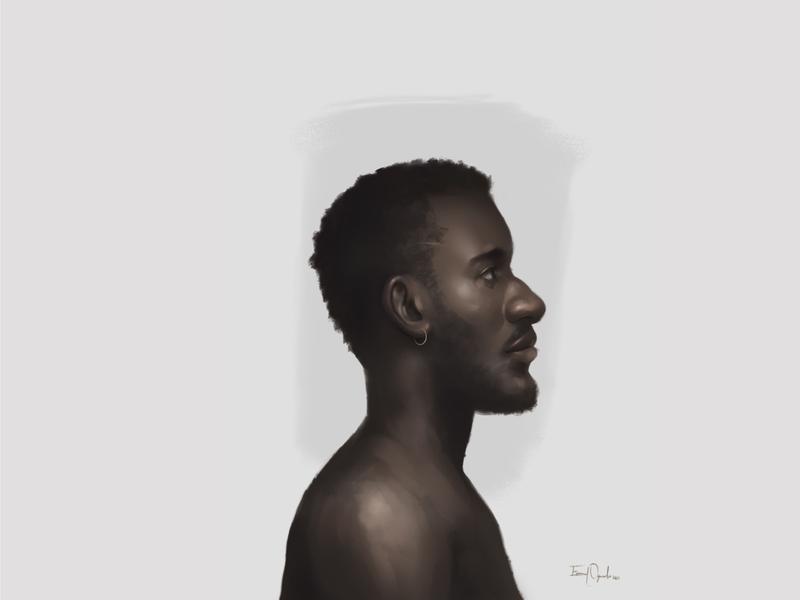 Ade blacklivesmatter black portrait painting illustration