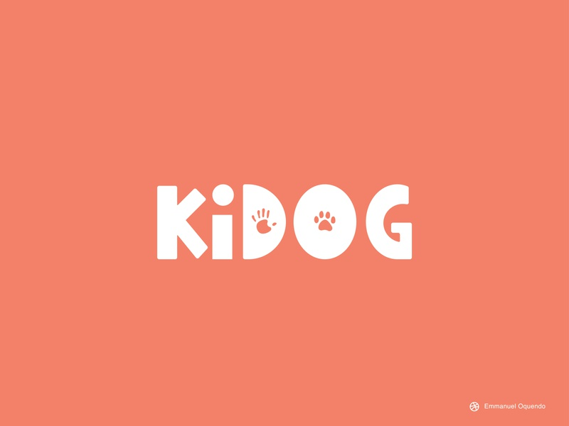Kidog Branding foundation children kids dogs pets icon design vector illustration logo logodesign branding illustration